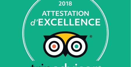 Trip advisor certificat d'excellence 2018 Izakaya